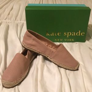 Kate Spade flats. New. Blush color
